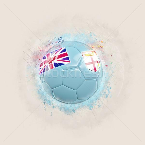 グランジ サッカー フラグ フィジー 3次元の図 世界 ストックフォト © MikhailMishchenko