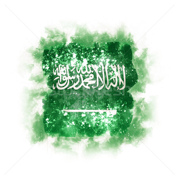 Kare grunge bayrak Suudi Arabistan 3d illustration Retro Stok fotoğraf © MikhailMishchenko