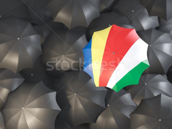 зонтик флаг Сейшельские острова Top черный Сток-фото © MikhailMishchenko
