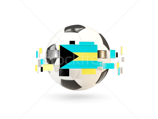 Soccer ball with line of flags. Flag of bahamas Stock photo © MikhailMishchenko