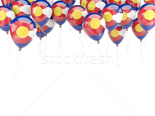 Balloons frame with flag of colorado. United states local flags Stock photo © MikhailMishchenko