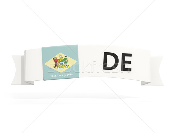 delaware state flag on banner with postal abbreviation isolated  Stock photo © MikhailMishchenko
