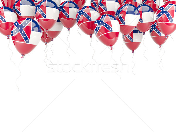 Balloons frame with flag of mississippi. United states local fla Stock photo © MikhailMishchenko
