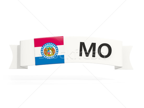 missouri state flag on banner with postal abbreviation isolated  Stock photo © MikhailMishchenko