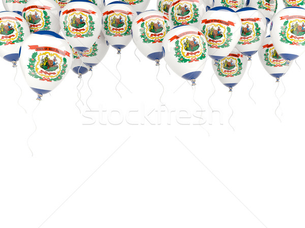 Léggömbök keret zászló Nyugat-Virginia Egyesült Államok helyi Stock fotó © MikhailMishchenko