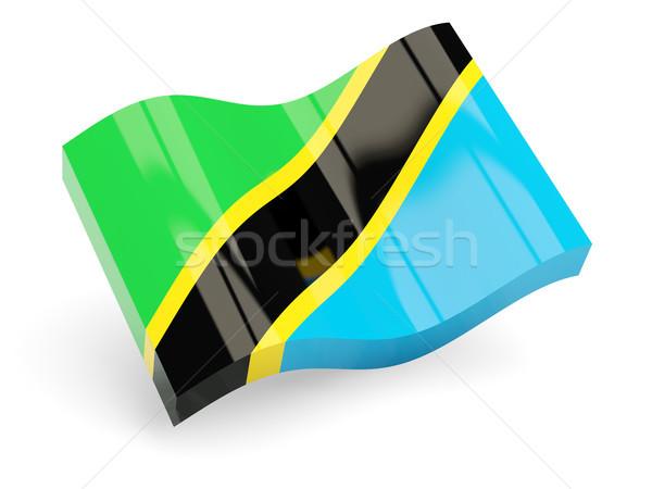 3D bayrak Tanzanya yalıtılmış beyaz seyahat Stok fotoğraf © MikhailMishchenko