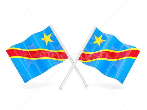 Bayrak demokratik cumhuriyet Kongo iki dalgalı Stok fotoğraf © MikhailMishchenko