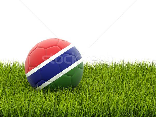 Football with flag of gambia Stock photo © MikhailMishchenko