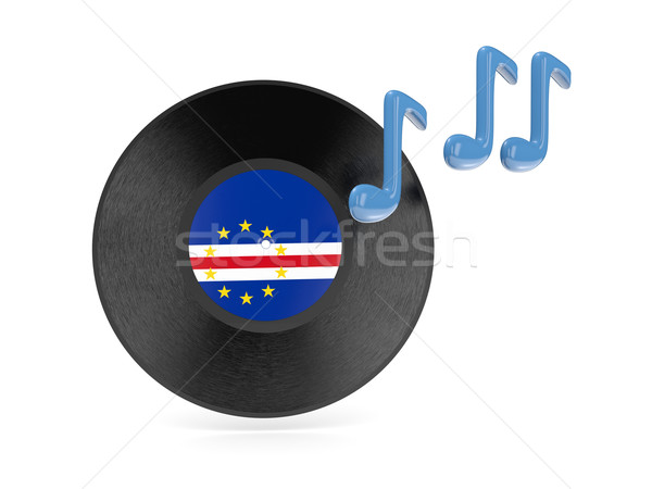 Vinyl disk with flag of cape verde Stock photo © MikhailMishchenko