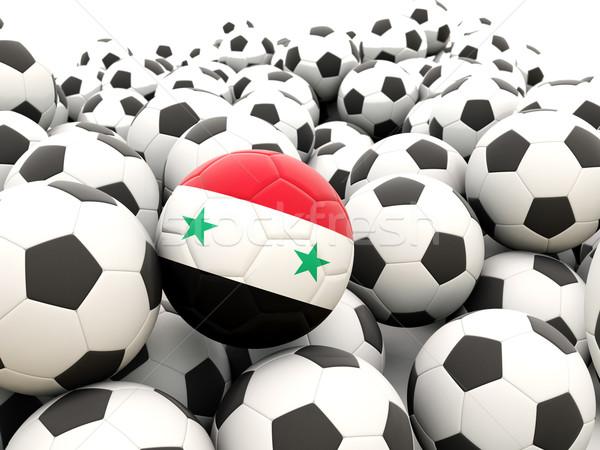 Voetbal vlag Syrië regelmatig zomer Stockfoto © MikhailMishchenko