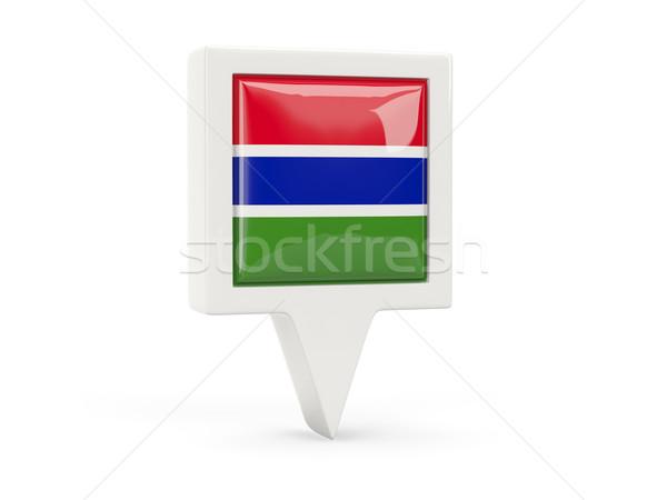 Square flag icon of gambia Stock photo © MikhailMishchenko