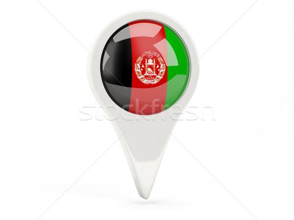 Bandeira ícone Afeganistão isolado branco mapa Foto stock © MikhailMishchenko