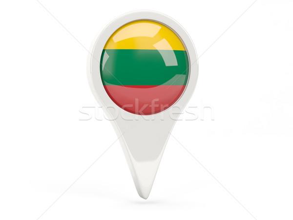 флаг икона Литва изолированный белый карта Сток-фото © MikhailMishchenko