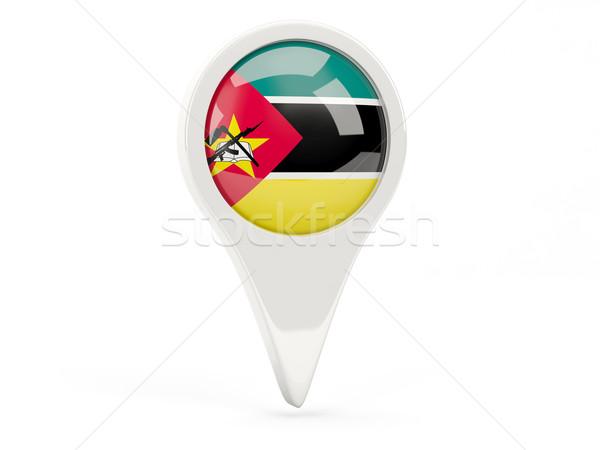 Bandeira ícone Moçambique isolado branco mapa Foto stock © MikhailMishchenko