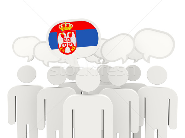 People with flag of serbia Stock photo © MikhailMishchenko