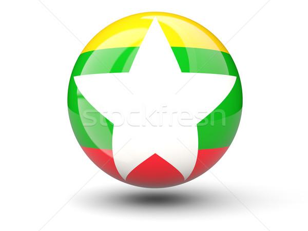 икона флаг Мьянма изолированный белый путешествия Сток-фото © MikhailMishchenko