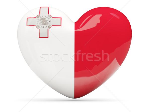 Hart icon vlag Malta geïsoleerd Stockfoto © MikhailMishchenko
