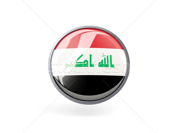 Icon vlag Irak metaal frame reizen Stockfoto © MikhailMishchenko