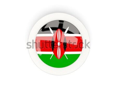 Gomb zászló Kenya fém keret utazás Stock fotó © MikhailMishchenko