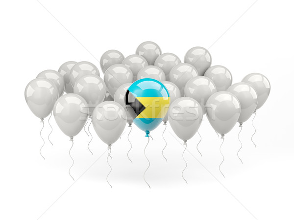 Air balloons with flag of bahamas Stock photo © MikhailMishchenko