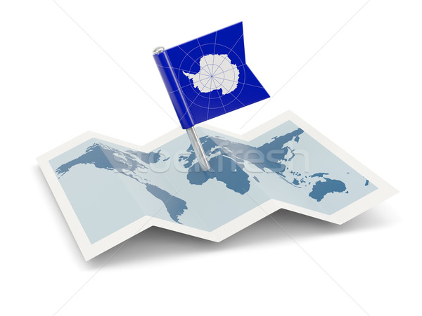 Map with flag of antarctica Stock photo © MikhailMishchenko