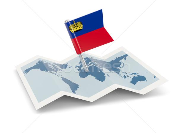 Map with flag of liechtenstein Stock photo © MikhailMishchenko