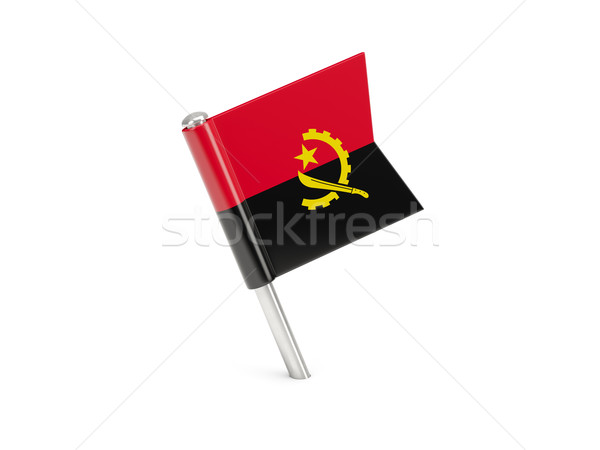Flag pin of angola Stock photo © MikhailMishchenko