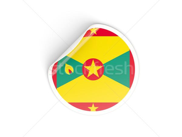 Matrica zászló Grenada izolált fehér utazás Stock fotó © MikhailMishchenko