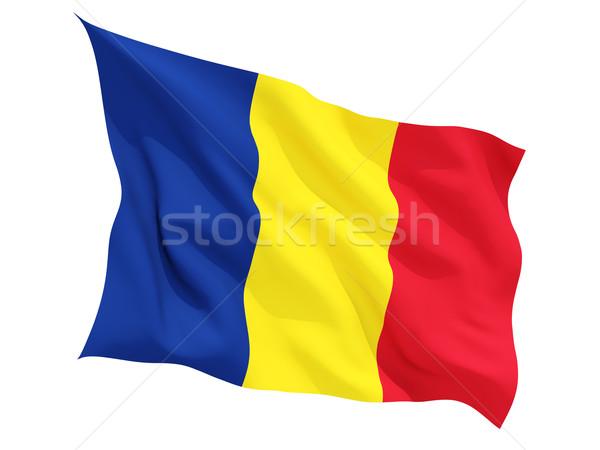 Bayrak Romanya yalıtılmış beyaz seyahat Stok fotoğraf © MikhailMishchenko