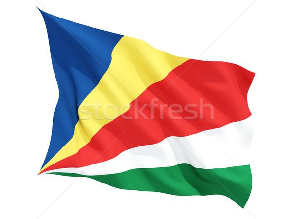 флаг Сейшельские острова изолированный белый Сток-фото © MikhailMishchenko