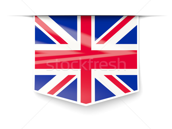 Square label with flag of united kingdom Stock photo © MikhailMishchenko