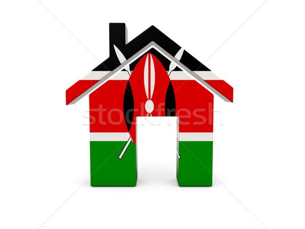 Otthon zászló Kenya izolált fehér keresés Stock fotó © MikhailMishchenko