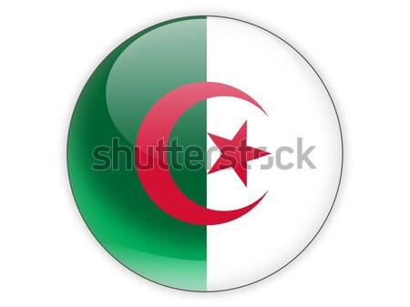Icône pavillon Algérie isolé blanche Voyage Photo stock © MikhailMishchenko