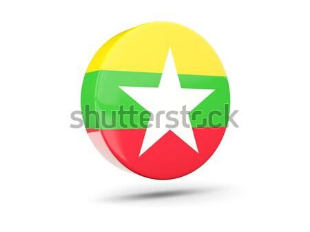 Icono bandera Myanmar aislado blanco viaje Foto stock © MikhailMishchenko