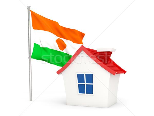 дома флаг Нигер изолированный белый домой Сток-фото © MikhailMishchenko