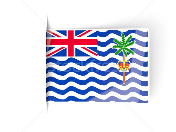 Square label with flag of british indian ocean territory Stock photo © MikhailMishchenko