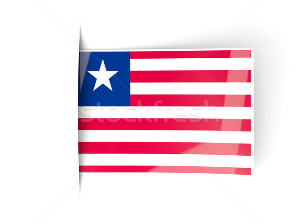 Square label with flag of liberia Stock photo © MikhailMishchenko