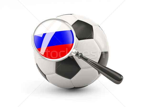 Football with magnified flag of russia Stock photo © MikhailMishchenko