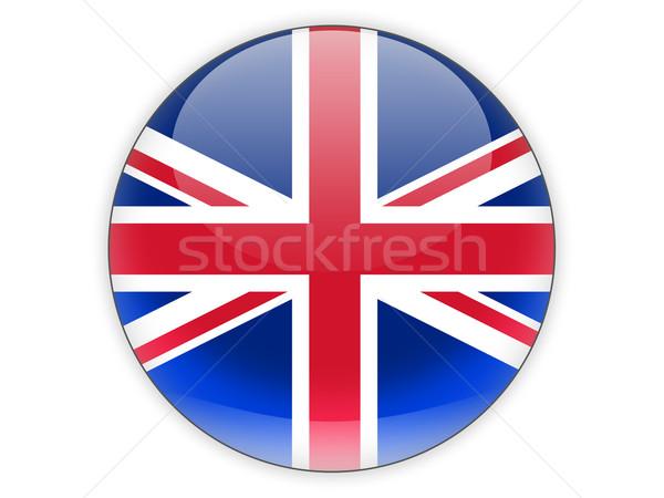 Icon vlag Verenigd Koninkrijk geïsoleerd witte reizen Stockfoto © MikhailMishchenko