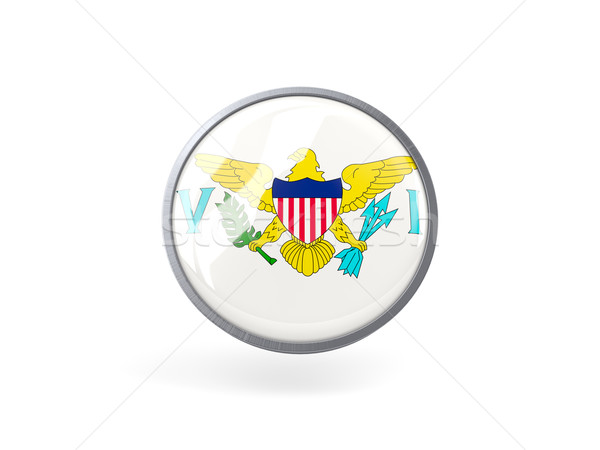 Round icon with flag of usa virgin islands Stock photo © MikhailMishchenko