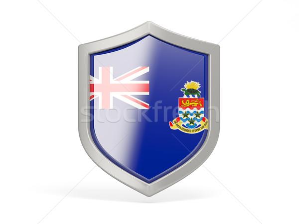 Shield icon with flag of cayman islands Stock photo © MikhailMishchenko