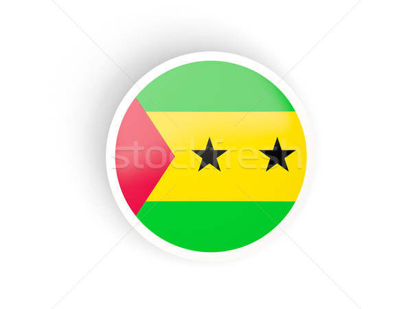 Round sticker with flag of sao tome and principe Stock photo © MikhailMishchenko