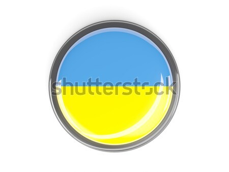 Round sticker with flag of ukraine Stock photo © MikhailMishchenko