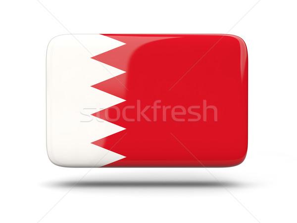 Kare ikon bayrak Bahreyn gölge imzalamak Stok fotoğraf © MikhailMishchenko