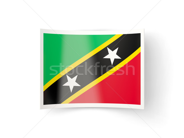 Bent icon with flag of saint kitts and nevis Stock photo © MikhailMishchenko