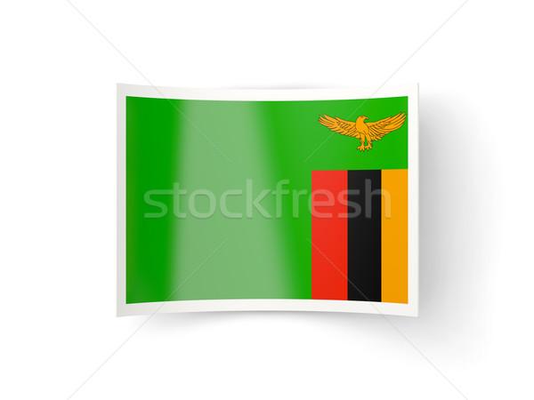 Ikon bayrak Zambiya yalıtılmış beyaz ülke Stok fotoğraf © MikhailMishchenko