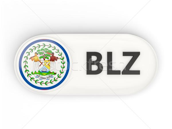 Ikon zászló Belize iso kód vidék Stock fotó © MikhailMishchenko