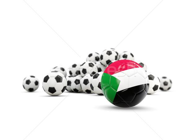 Futball zászló izolált fehér 3d illusztráció utazás Stock fotó © MikhailMishchenko