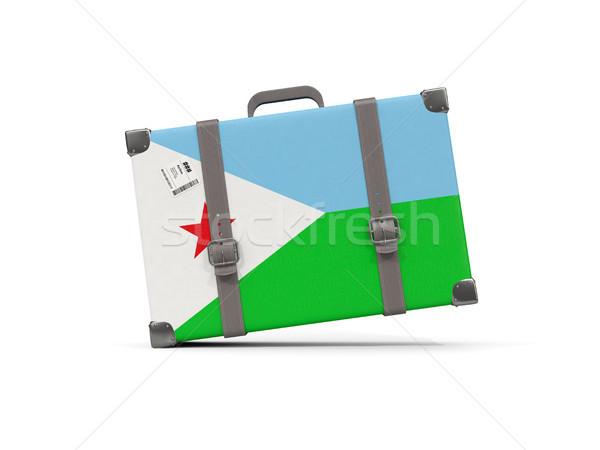 Bagaglio bandiera Gibuti valigia isolato bianco Foto d'archivio © MikhailMishchenko