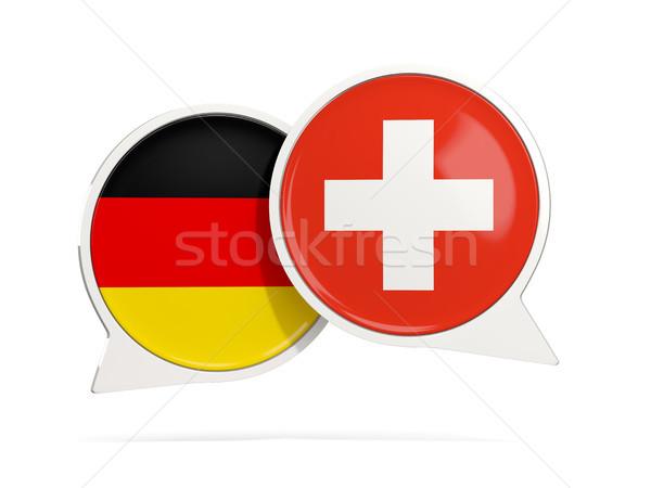 Chat pęcherzyki Niemcy Szwajcaria odizolowany biały Zdjęcia stock © MikhailMishchenko
